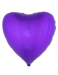 Balão alumínio coração lilás 45 cm