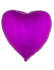 Balão alumínio coração cor-de-rosa fuschia 45 cm