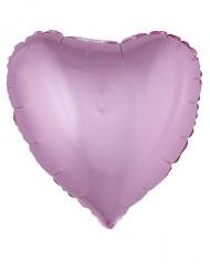 Balão alumínio coração cor-de-rosa 45 cm