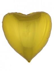 Balão alumínio coração dourado 76 cm