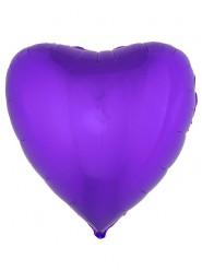 Balão alumínio coração lilás 76 cm