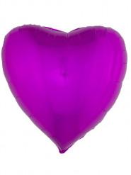 Balão alumínio coração cor-de-rosa 76 cm