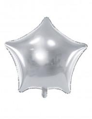 Balão alumínio estrela prateada 45 cm