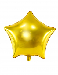 Balão alumínio estrela dourada 45 cm