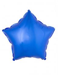 Balão alumínio estrela azul 45 cm