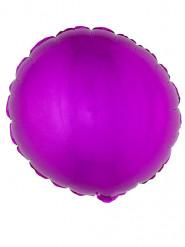 Balão alumínio redondo cor-de-rosa fúcsia