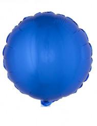 Balão alumínio redondo azul 45 cm