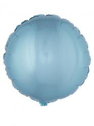 Balão alumínio redondo azul turquesa 45 cm