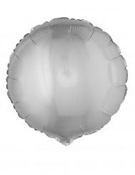 Balão alumínio redondo prateado 45 cm