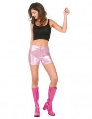 Calções disco cor-de-rosa mulher