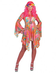 Disfarce Hippie mulher colorido