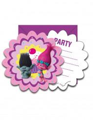 6 Convites com envelopes Trolls™