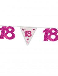 Grinalda bandeirolas 18 anos cor-de-rosa
