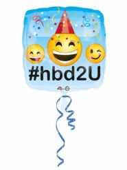 Balão alumínio Happy Birthday emoticons
