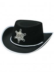 Chapéu de xerife preto criança