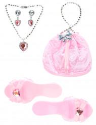Kit acessório princesa rosa menina