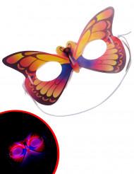 Máscara borboleta fosforescente adulto