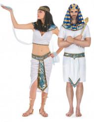 Disfarce de casal Egípcio azuis adulto