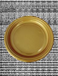 30 Pratos de plástico dourados 22 cm