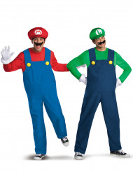 Disfarce de casal Mario™ e Luigi™ adulto