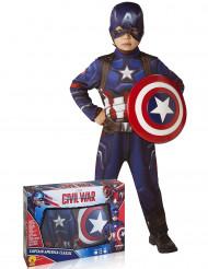 Disfarce clássico Capitão América™ com escudo menino - Avengers™