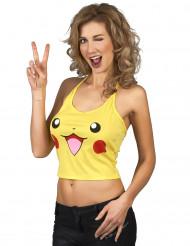 Top roedor amarelo mulher