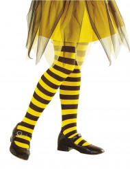 Collants às riscas amarelas e pretas criança
