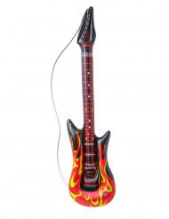 Guitarra rock em chamas insuflável 105 cm