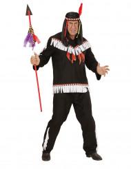 Disfarce índio preto e branco homem
