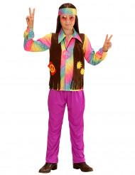 Disfarce hippie colorido menino