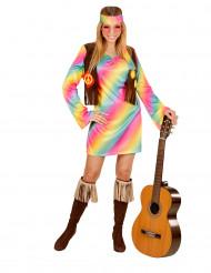 Disfarce hippie às cores mulher