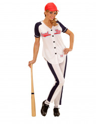 Disfarce jogadora de baseball mulher