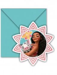 6 Convites com envelopes Vaiana™
