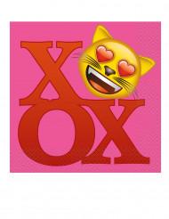 20 Guardanapos de papel Emoji™ 33 x 33 cm