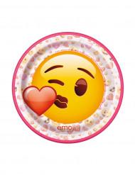 8 Pratos pequenos de cartão Emoji™