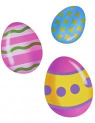6 Decorações de cartão ovos da Páscoa