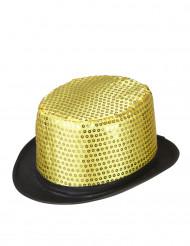 Chapéu alto dourado adulto