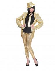 Leggings dourados com lantejoulas adulto