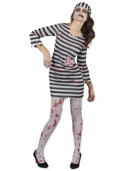 Disfarce prisioneira zombie mulher