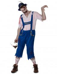 Disfarce zombie bávaro azul homem