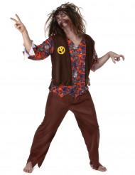 Disfarce zombie hippie homem