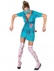 Disfarce enfermeira zombie para mulher
