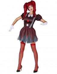 Disfarce boneca assustadora mulher