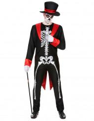 Disfarce esqueleto chique homem