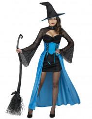 Disfarce Bruxa azul mulher