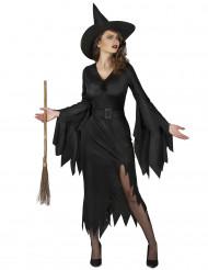 Disfarce bruxa preta sexy mulher