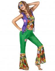 Disfarce hippie flower power mulher