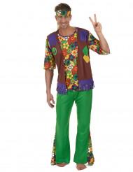 Disfarce hippie poder das flores - homem