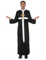 Disfarce padre cruz branca homem