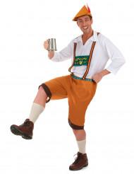 Disfarce bávaro castanho homem